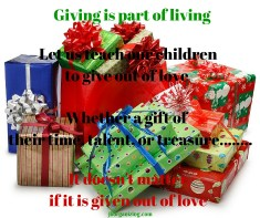Giving is part of living