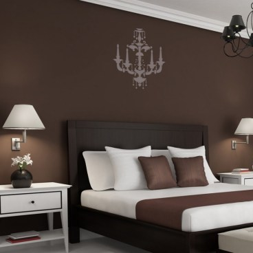 Chandelier Wall Stencil Beatrice For Decorate Painting