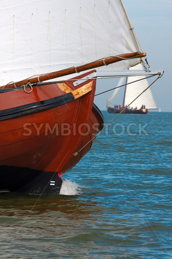 Brown skutsje bow - Jan Brons Stock Images