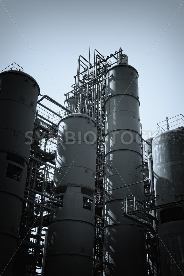 Coal washing plant silos - Jan Brons Stock Images