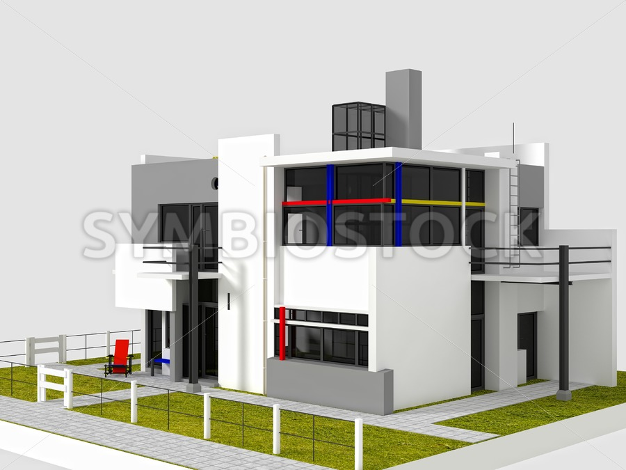 Rietveld Schroder East view - Jan Brons Stock Images