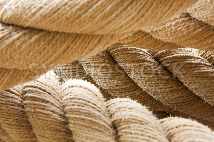 Ships twisted rope - Jan Brons Stock Images