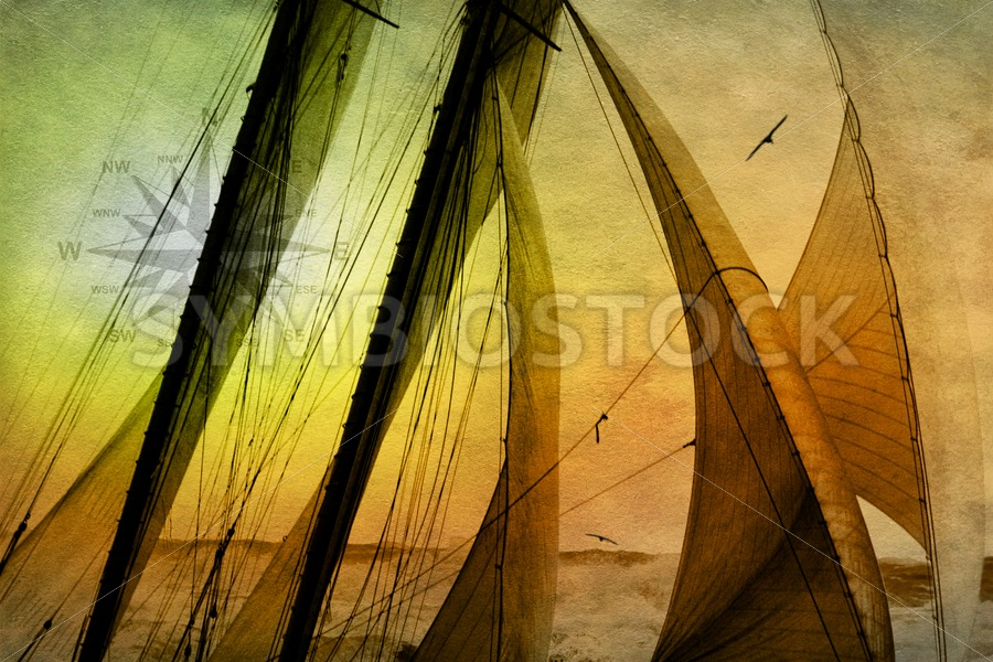 Sailing Schooner from the past - Jan Brons Stock Images
