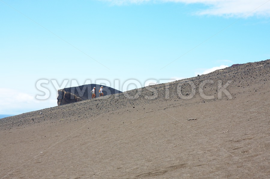 Climbing The Hill - Jan Brons Stock Images
