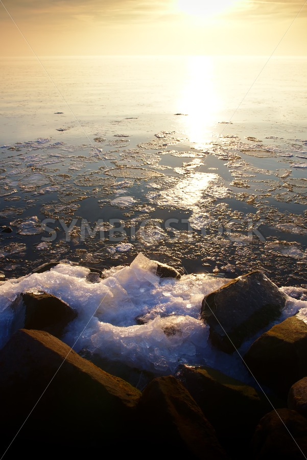 Sunset over Ice Lake - Jan Brons Stock Images