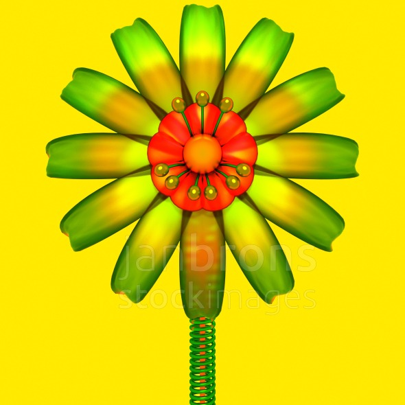Stock Image: Abstract quality flower