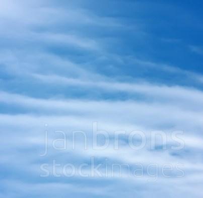 Blue sky white cirrus clouds