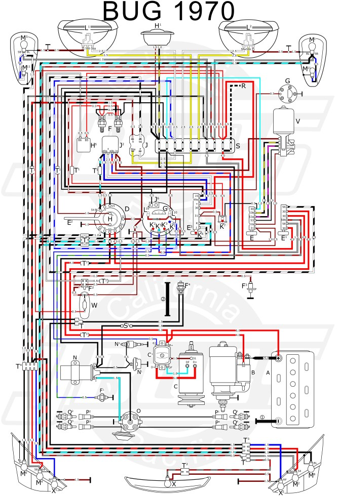 vw beetle wiring diagram 1972 vw image wiring diagram 1970 vw beetle tail light wiring diagram wiring diagrams on vw beetle wiring diagram 1972