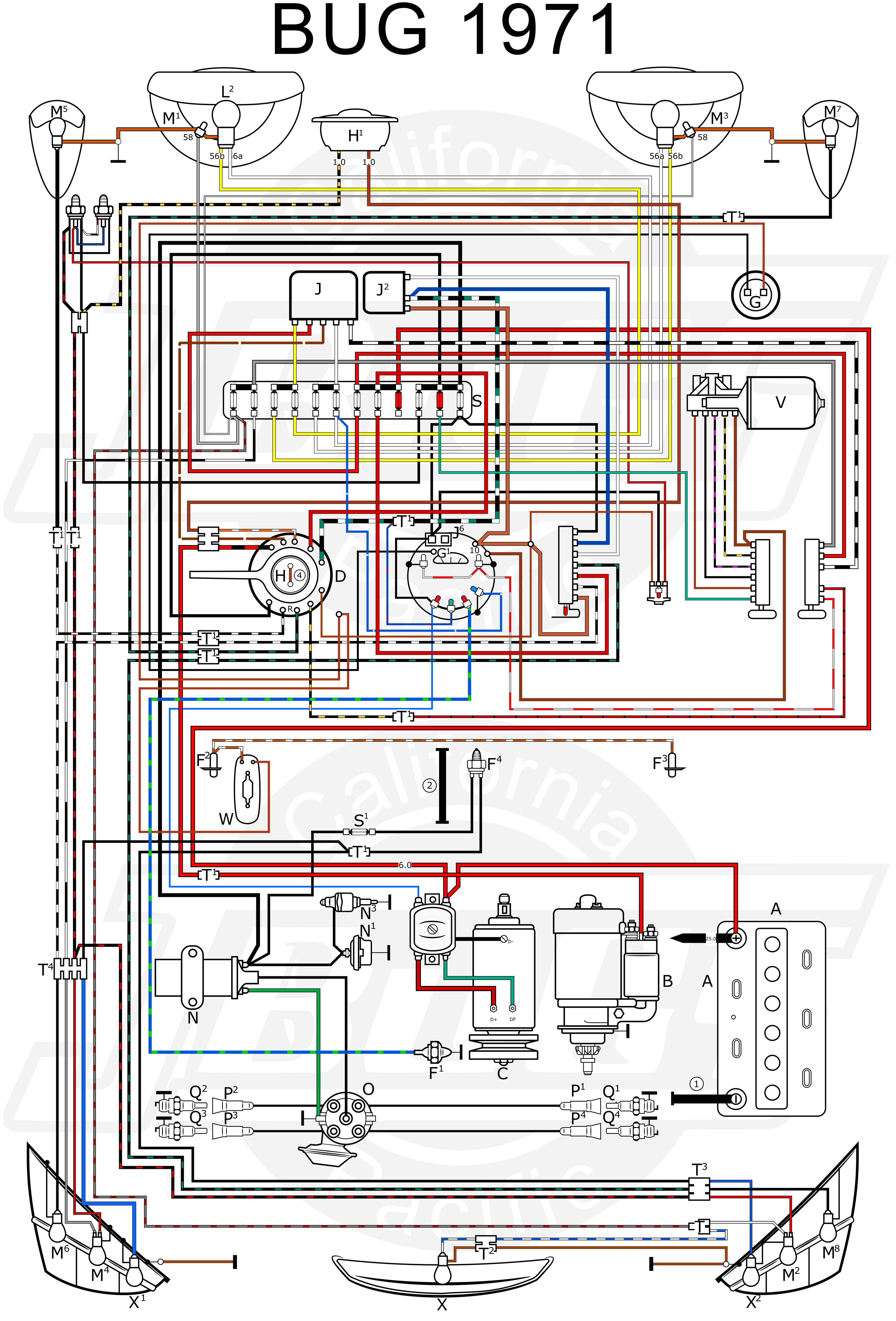 1971 Vw Super Beetle Starter Diagram Wiring