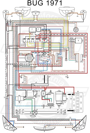 VW Tech Article 1971 Wiring Diagram