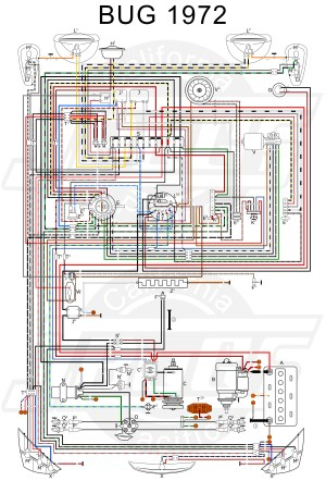 VW Tech Article 1972 Wiring Diagram