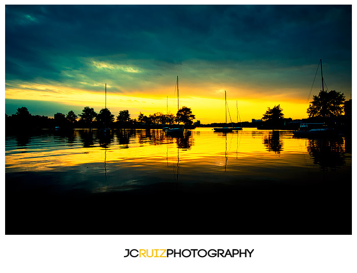 Charles River sunset in Boston
