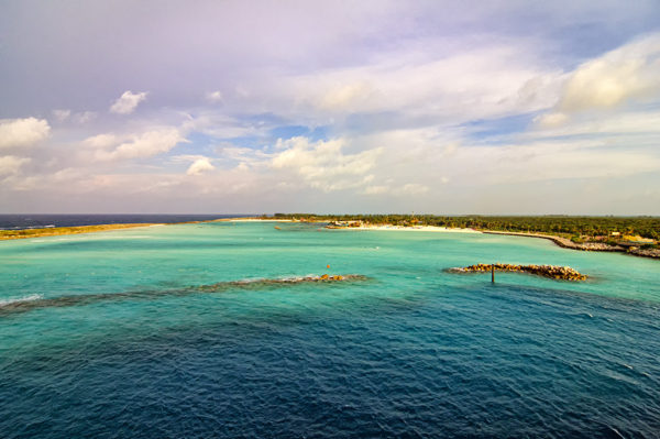 View of Disney's Castaway Cay island in the Bahamas