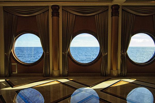 Ocean views from inside the Disney Magic