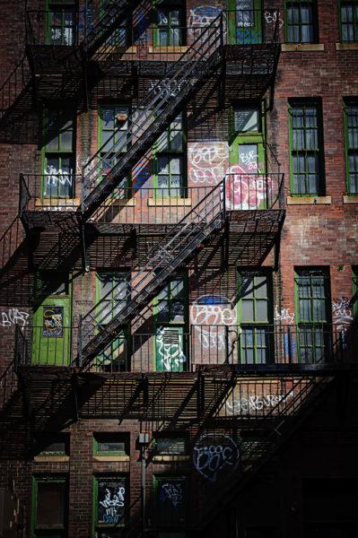 Boston fire escape