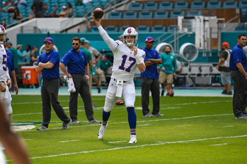 Buffalo Bills quarterback Josh Allen (17)