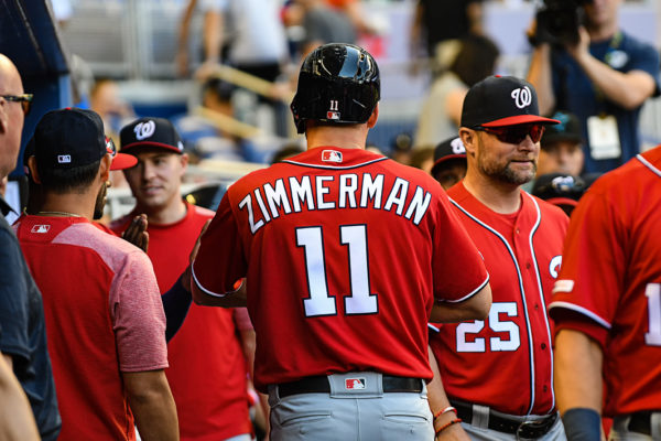 Washington Nationals first baseman Ryan Zimmerman #11