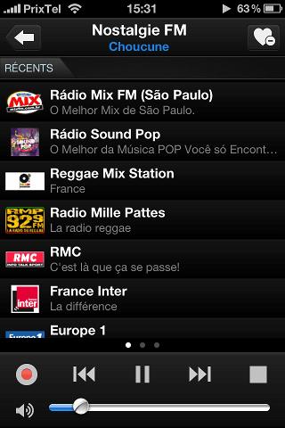 tunein radio liste des radios