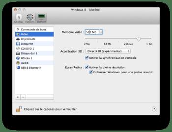 Parallels Desktop 10 matériel