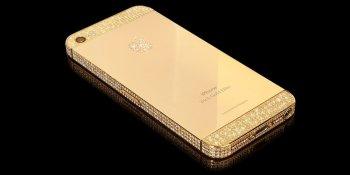 iPhone 5S en or 24 carats vue de dos