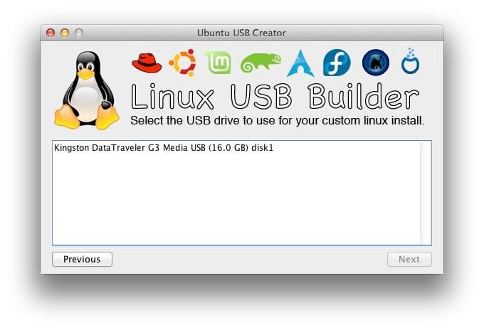creer une cle USB bootable Linux sur mac 03