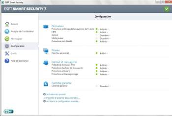 eset smart security 7 configuration basique