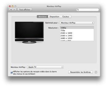 activer airplay mavericks apple tv