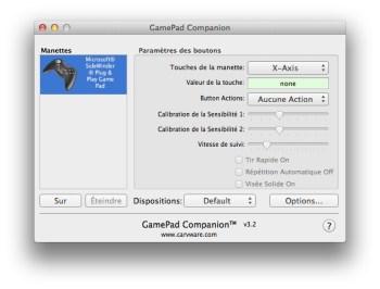 jouer avec une manette sur Mac OS X