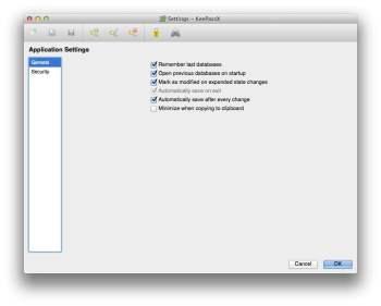 KeePassX gestionnaire de mots de passe mac