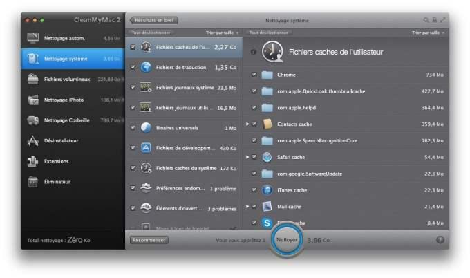 Optimiser Mavericks nettoyage mac en details