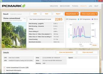 HP Spectre 13-3090ef pcmark8