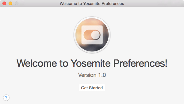 yosemite preferences installation