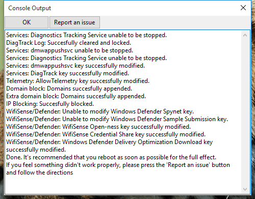 tracking windows 10 rapport