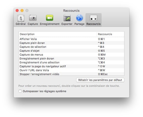 faire une capture d'ecran sur mac raccourcis clavier