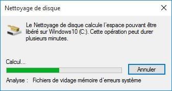 nettoyer windows 10 analayse