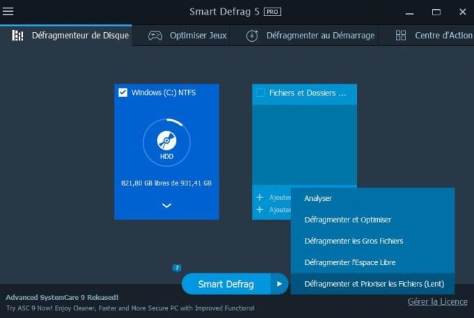 windows 10 defragmenter gros fichiers