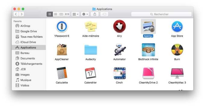 pdf sur mac apercu