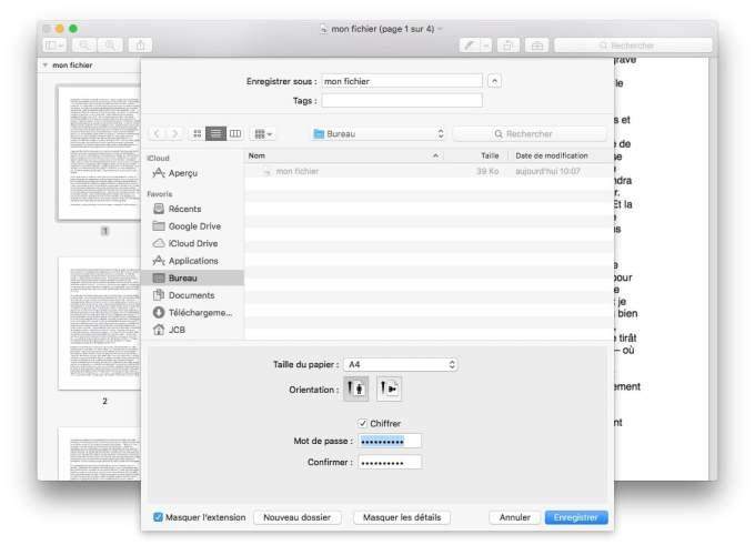 pdf sur mac chiffrer
