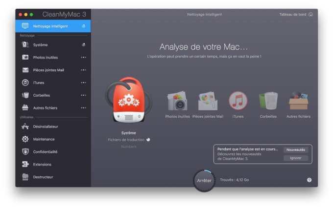 Nettoyer macOS Sierra optimisation