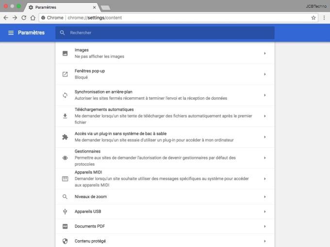 Accelerer Google Chrome Mac ne pas afficher les images