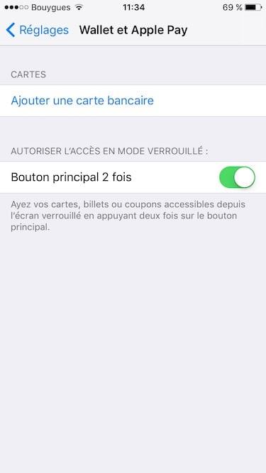 configurer apple pay ajouter une carte bancaire