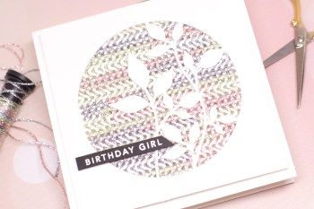 Stitched Cards with Die Cuts