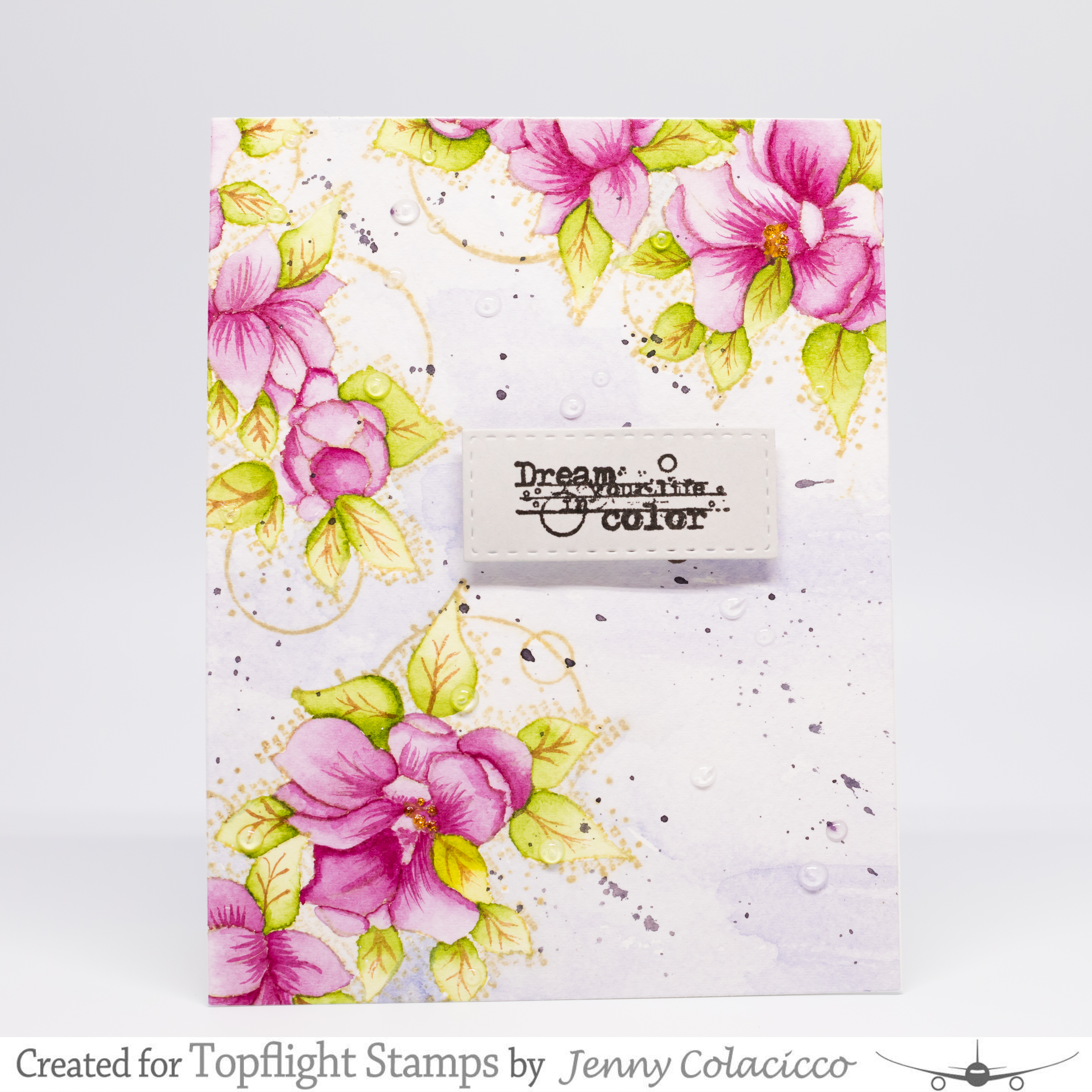 Topflight Stamps Dream Your Life In Color No Line Watercolor