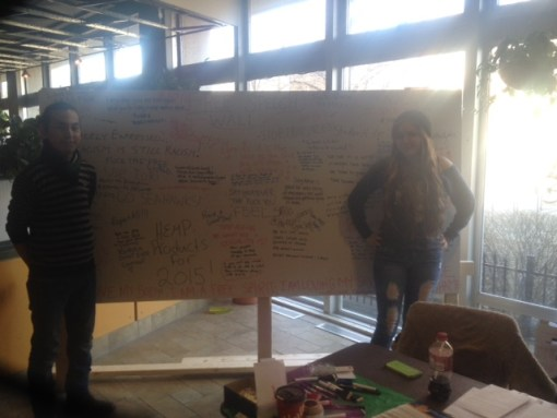 Dal students Drue MacPherson and Rinzin Ngodup hosted the JCCF's Free Speech Wall at Dalhousie in an effort to educate their peers about free speech rights