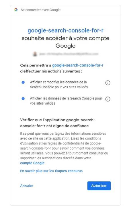 googleauthr search console api