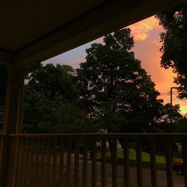 A little front porch time after the storm the other night.