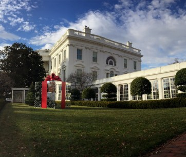 White House Christmas installation 2014. Produced by Agency EA. Built by JCDP