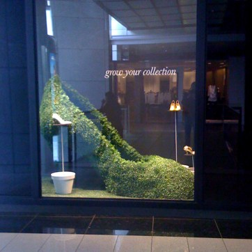 J Crew Topiary Shoe. Designed by JCrew. Built and Installed by JCDP