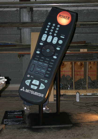 Giant Remote. Designed by Nickelodeon and built by JCDP
