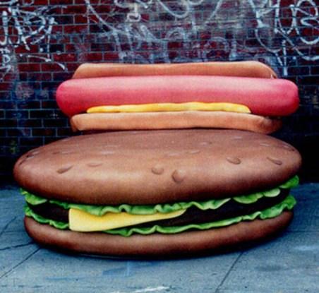 Hamburger Trampoline